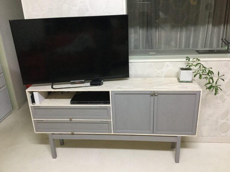 杉板/オーク材 テレビ台