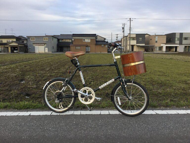 自転車に木製カゴ作ってみました!